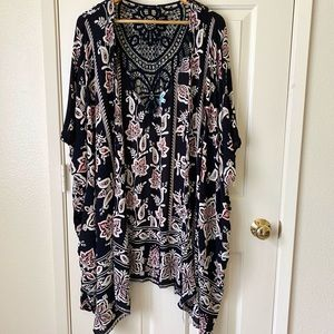 Nostalgia Laced and Print Cardigan